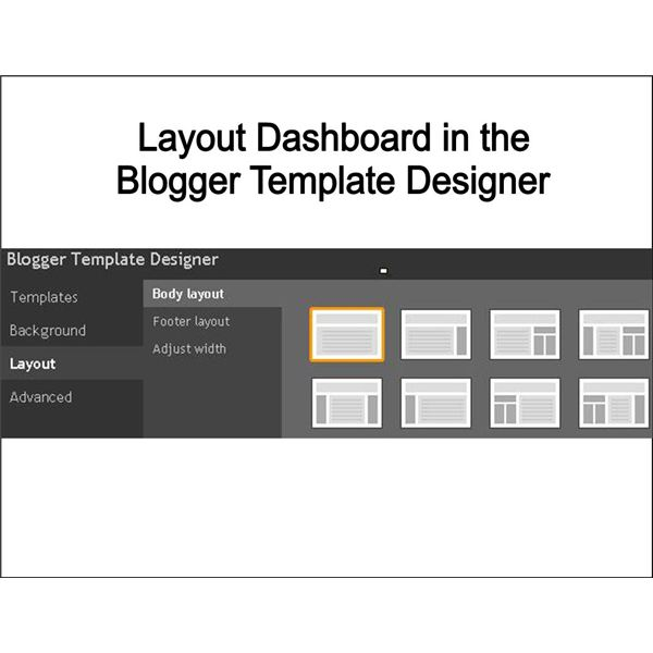 Blogger New Layout Dashboard