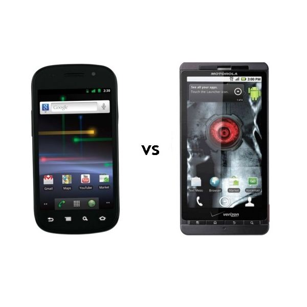 Google Nexus S vs Motorola Droid X - Feature Comparison