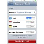 Delete email account - iPhone