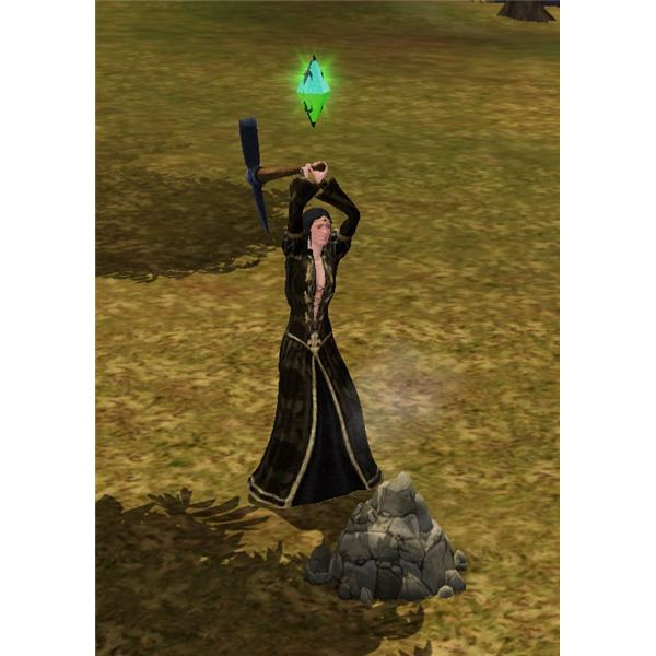 The Sims Medieval Wizard Mining 2