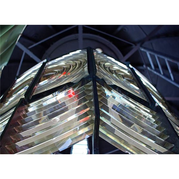 Cape Otway Lighthouse Fresnel lens from Wiki Commons by Stephen Bain