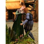 The Sims Medieval Physician Diagnosing Sim