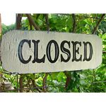 Cottage Business Closed Sign by FamilyAttice Flickr Commons