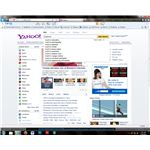 Yahoo search fits in among news and entertainment stories.