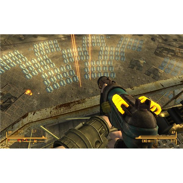 Fallout: New Vegas Walkthrough - Helios One - The Archimedes I Defense System Killing the NCR Guards