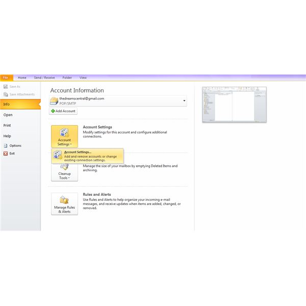Setting Up More Than One Account On Microsoft Outlook - Combine 2 Accounts To Single Inbox