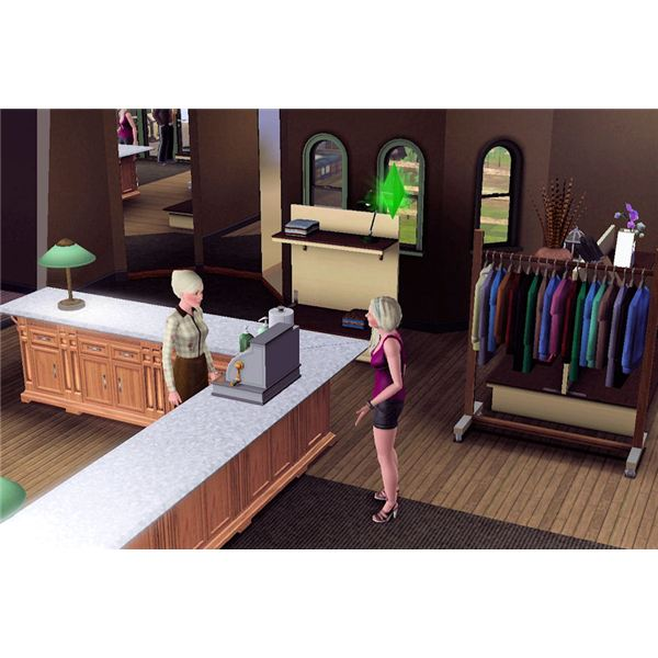 The Sims 3 consignment store