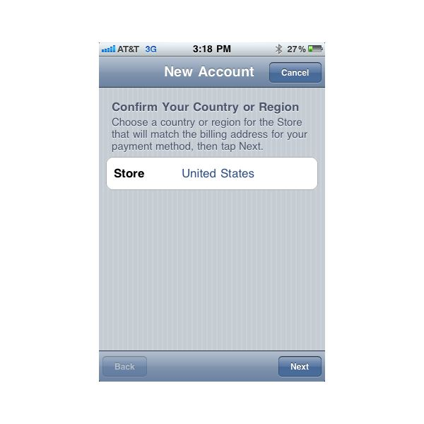 Apple ID - Confirm Country/Region