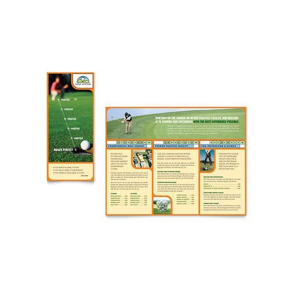 Microsoft Publisher Brochure Golf Template Options Download - Brochure flyer templates