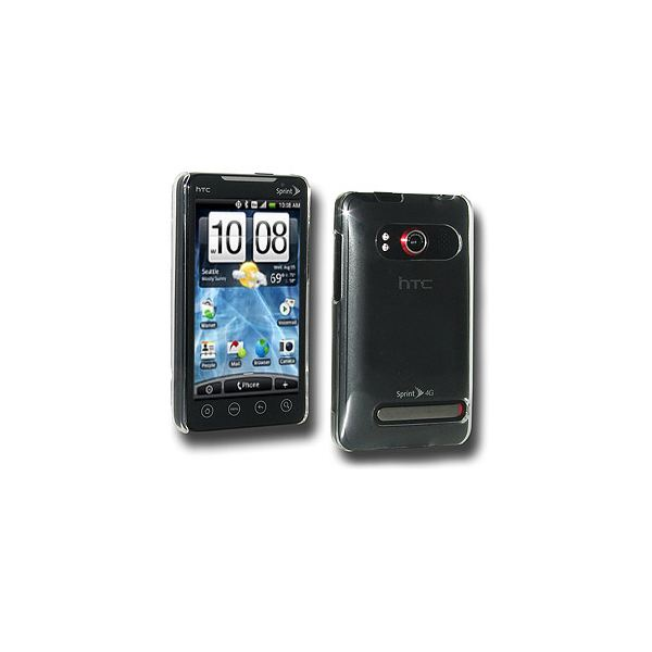 Amzer® Simple Click On Case with Screen Protector - Clear For HTC EVO 4G