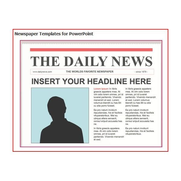 Delightful Newspaper Layout Template