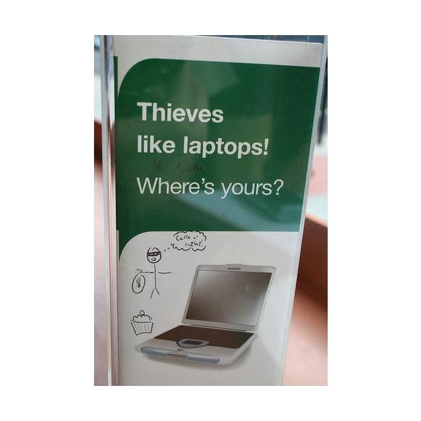 Thieves Love Laptops - from Flickr user spartacus