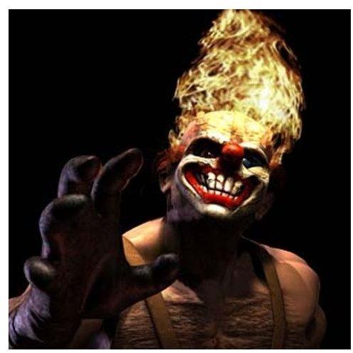 Sweet Tooth as he appears in Twisted: Metal Black.