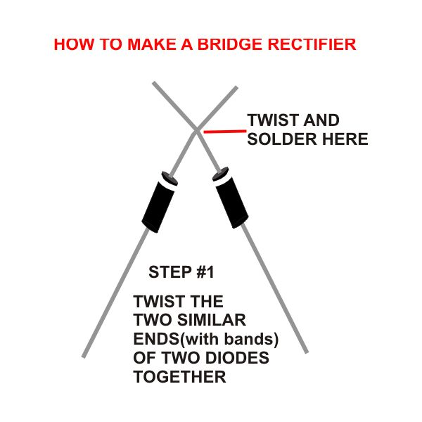 How to Build a Bridge Rectifier, Step one, Image