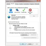 Use Internet Explorer's built in security features to protect your browser from attack