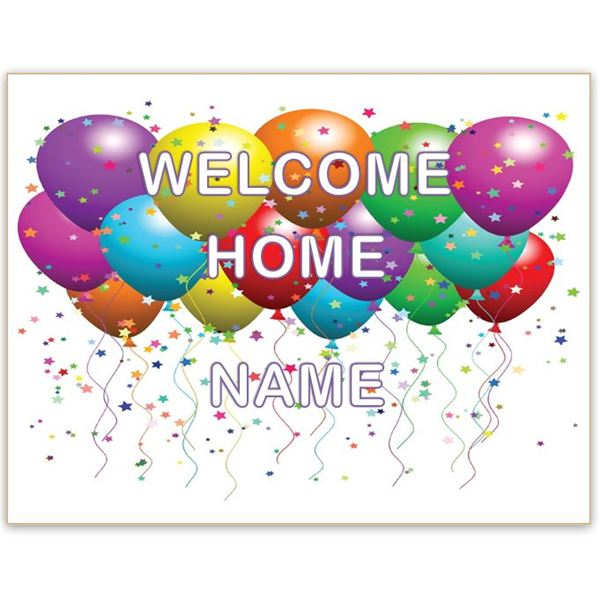 photo regarding Printable Welcome Home Banner titled welcome back again signs and symptoms no cost -
