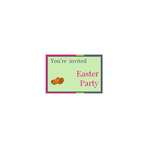 Easter Party Template for Word
