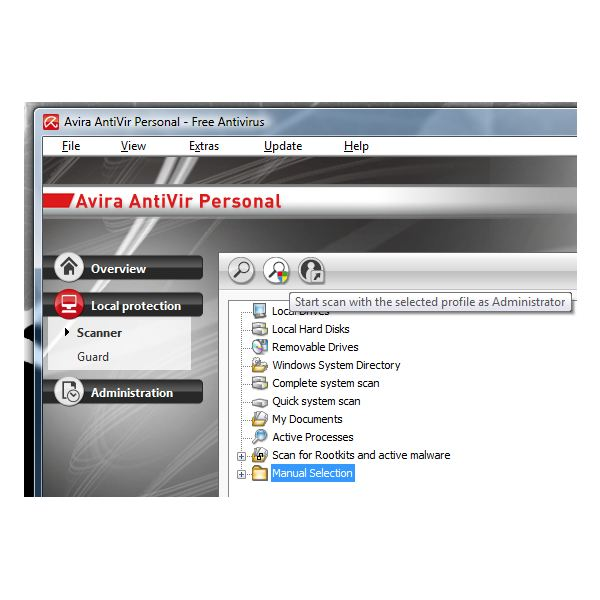Profile Scanner as Administrator