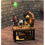 The Sims Medieval Spy at Crafting Table