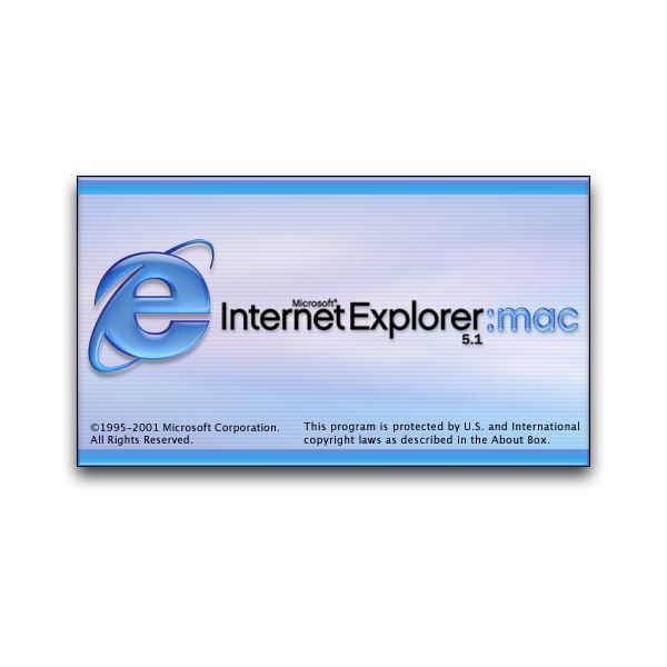 Internet Explorer 5 Info Window on Mac
