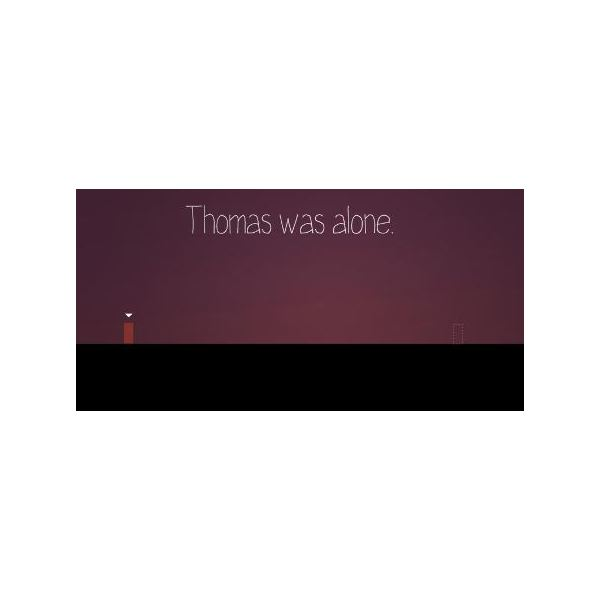 The moment you begin playing Thomas Was Alone, you immediately get a feeling of loneliness and isolation.