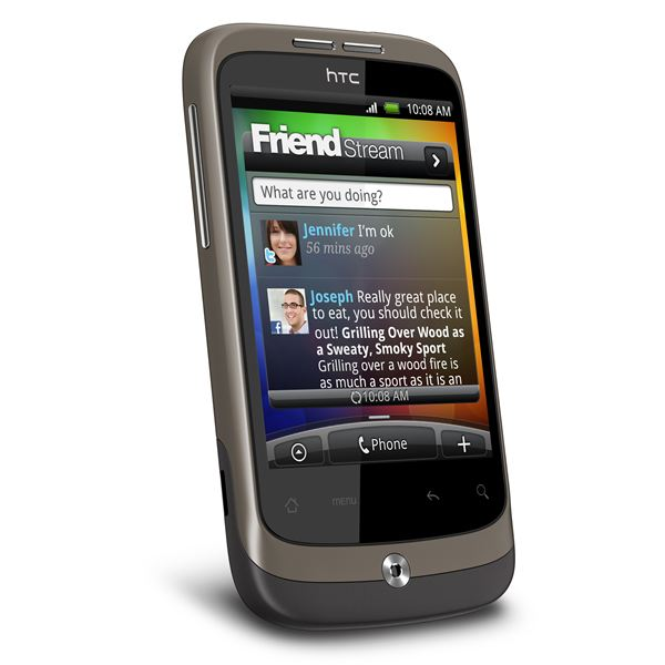 HTC Wildfire Side View