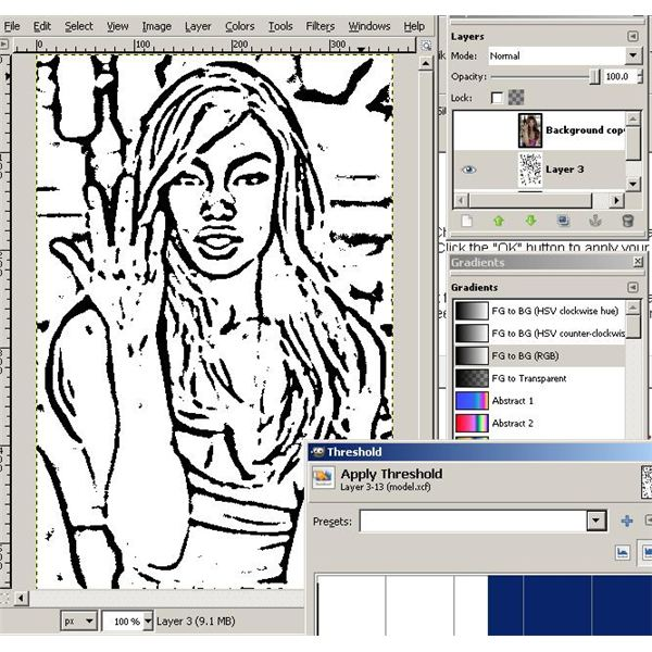 how to create a colored layer in gimp