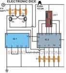 Electronic dice, Circuir Diagram, Image