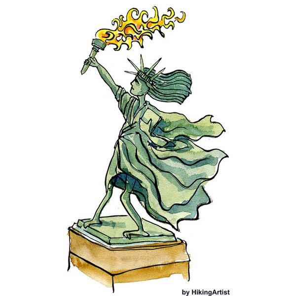 Statue of Liberty: Let freedom ring for we, the people!