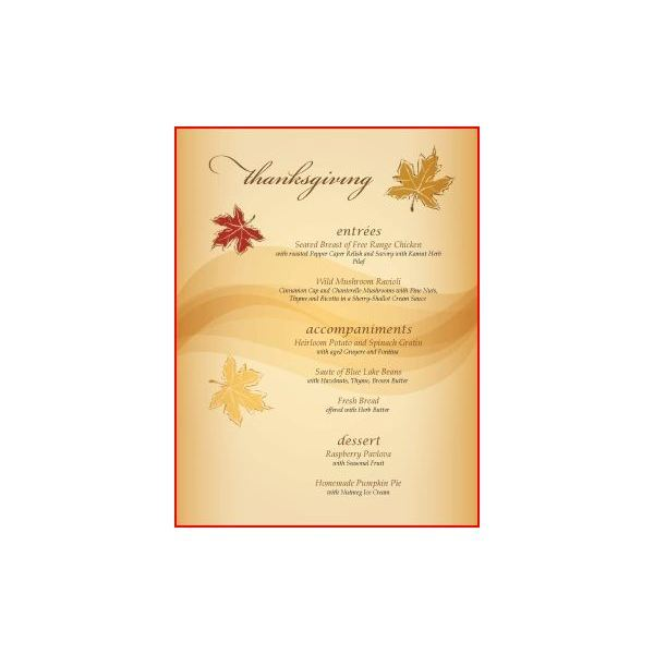 Great thanksgiving day menu templates to entice and for Microsoft publisher menu templates free