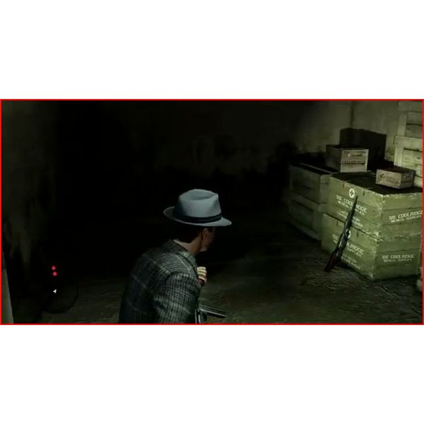 Kelso at the Arms Stash in the Tunnels