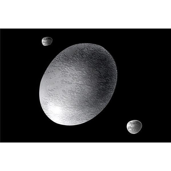 The dwarf planet Haumea and its two satellites