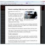 BBC news article article using Safari Reader