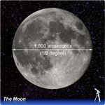The Moon measured in arcseconds
