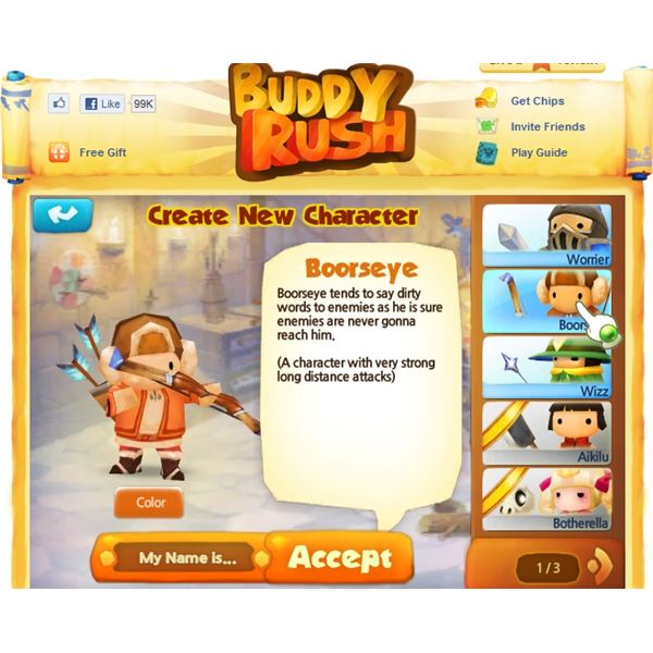 Buddy Rush Facebook Game Review