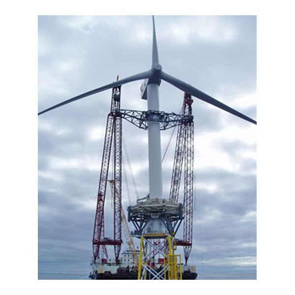 5MW Wind Turbine Being Installed to Steel Jacket Suport on Beatrice Field from Offshorewind Website