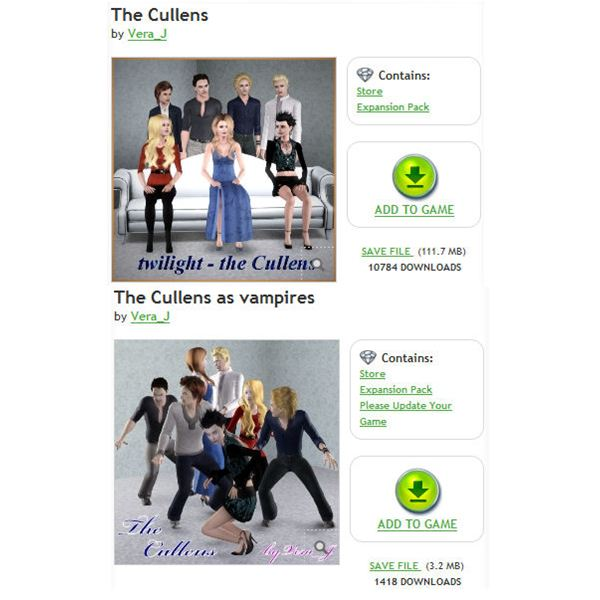 The Sims 3 Cullens Download