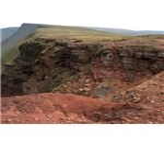 Strata near the top of the Bannau Sir Gaer cliffs - geograph.org.uk - 171038
