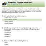 Connecting Singles Quizzes Snapshot Quiz