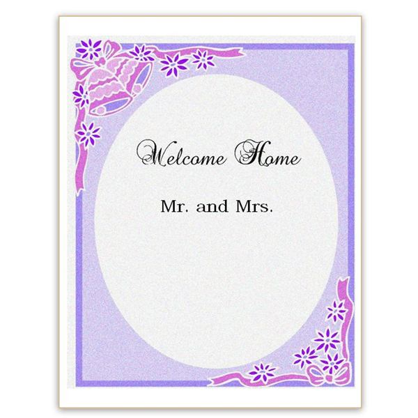 Newlywed Welcome Home Sign for Word