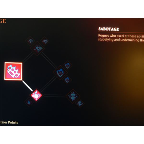 Dragon Age 2 Class Guide: Rogue's Sabotage skill tree.