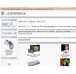 osCommerce.com Screenshot: Demonstration Page