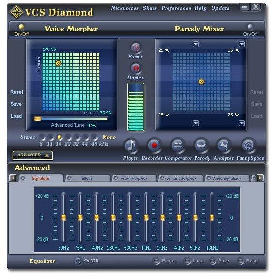 Main Panel Screenshot of AV Voice Changer.