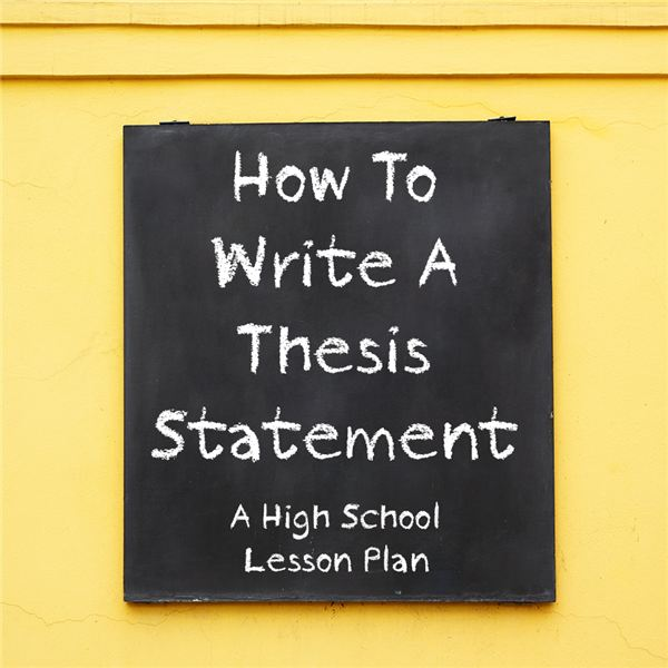 Lesson Plan for How to Write a Thesis Statement
