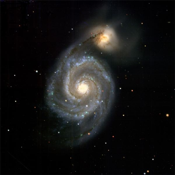 PS1 Image of the spiral galaxy, M51 NGC 5195
