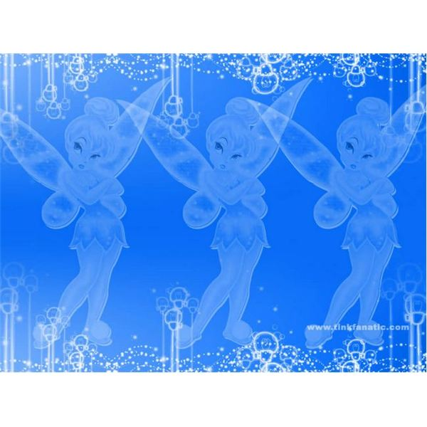 Blue Bubble Tinkerbell Background