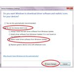 How to stop Windows 7 automatic driver installation - Device Installation Settings