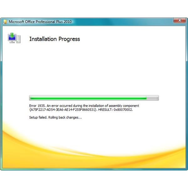 Error 1935 When Installing Office 2010