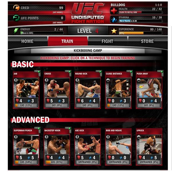 UFC Undisputed Fight Nation UFC Video Games on Facebook