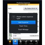 Screenshot ProOnGo Receipt App